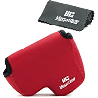 MegaGear Ultra Light Neoprene Camera Case Bag with Carabiner for Nikon COOLPIX B500 Digital Camera (Red)