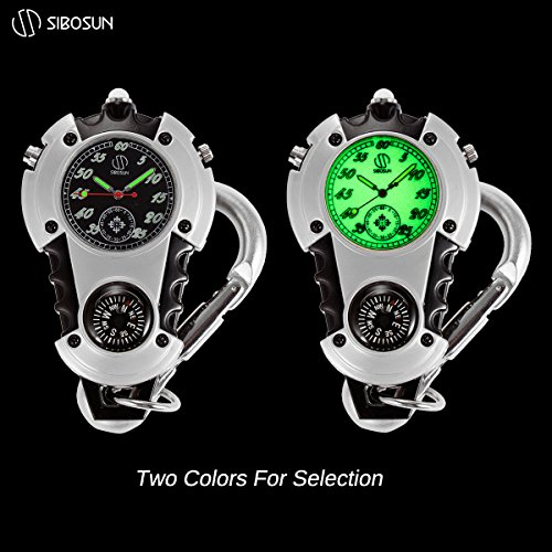 SIBOSUN Watch Company Mini Clip Microlight Nite Glow Luminous Clip on Pocket Watch Black by SIBOSUN (Image #5)