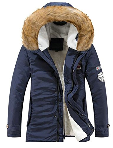 UK Wool Faux Outwear With Coat today Men's Fur Lamb Hood 4 Winter Lined Thicken dxIcqf