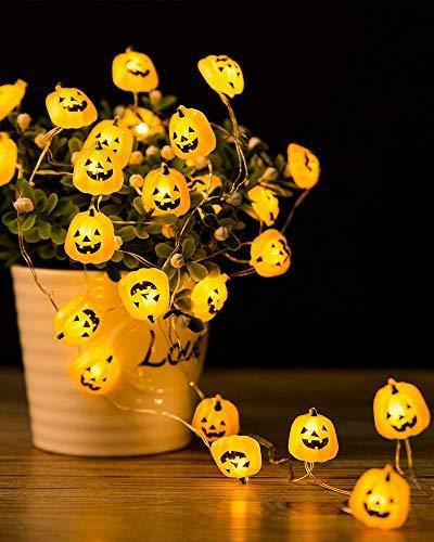 Halloween Lights 3D Jack-o-Lantern 10ft 30 LEDs Pumpkin