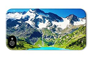 Hipster iPhone 4 carrying case blue lake mountains scenery PC 3D for Apple iPhone 4/4S by Maris's Diary