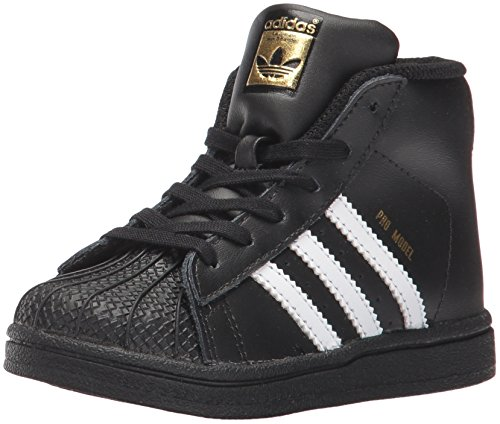 adidas Baby Pro Model Inf Sneaker, Core Black,White, Gold Met., 4K M US Infant
