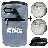 Elite Sportz Chalk Bag - inklusive 2 x 100% natürliche Kreide Magnesiumcarbonat Bälle zum Klettern, Bouldern, Turnen, und Gewichtheben