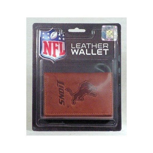 Rico Industries NFL Detroit Lions Leather Trifold Wallet with Man Made Interior
