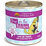 Weruva Dogs In The Kitchen, Love Me Tender With Chicken Breast Au Jus Dog Food, 10Oz Can (Pack Of 12)