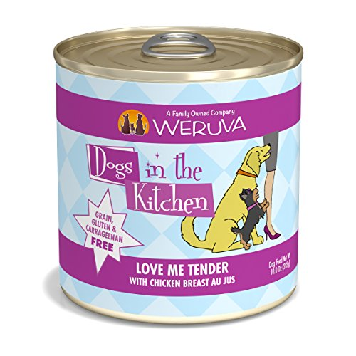 Weruva Dogs In The Kitchen, Love Me Tender With Chicken Breast Au Jus Dog Food, 10Oz Can (Pack Of 12) For Sale