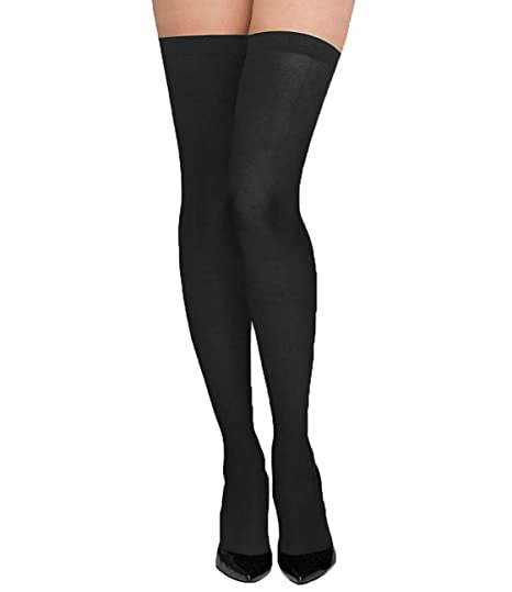de41d1bb8 N2S NEXT2SKIN Women s High Thigh Stockings (Black