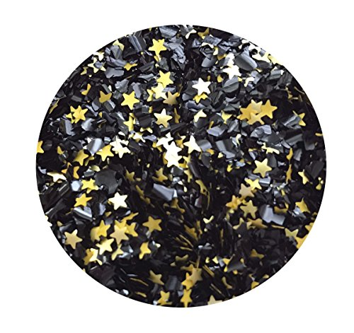 EDIBLE GLITTER Pick Up your COLOR 1/4 oz. flakes, stars, for cakes,for cupcakes, for cookies By Oh Sweet Art (Lovely Black) ()
