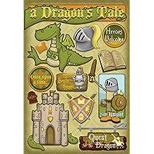 Karen Foster Design Acid and Lignin Free Scrapbooking Sticker Sheet, A Dragon's Tale