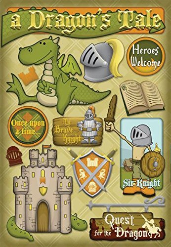 Dress Up Castle Storage (Karen Foster Design Acid and Lignin Free Scrapbooking Sticker Sheet, A Dragon's Tale)