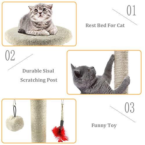 Zubita Rascador para gato con juguetes