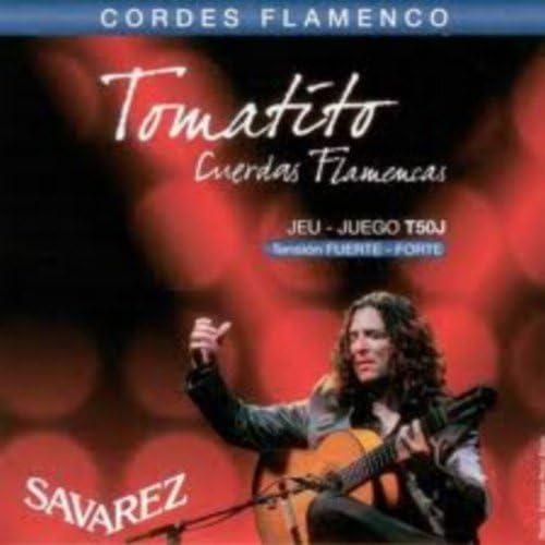 CUERDAS GUITARRA FLAMENCA - Savarez (T50J) Tomatito Tension Fuerte (Juego Completo)