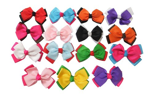 Puppy Volleyball Girl (Large Boutique 3in Hair Bows for Teens Women & Toddlers Girls 15pcs ⌘Grosgrain Ribbon with Alligator Clips …)