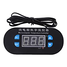 Whitelotous 12V Digital Temperature Controller 0.1℃ Accuracy (Red And Blue Display)