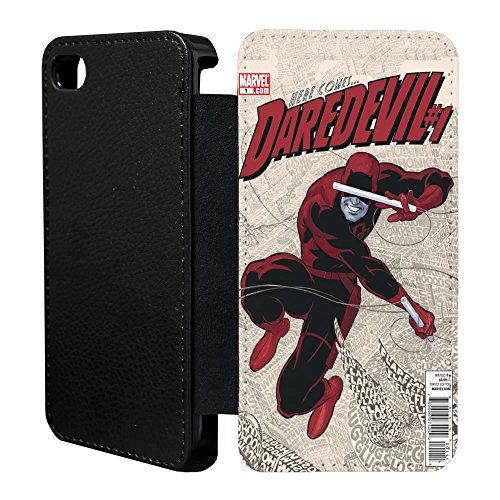 Superhero Marvel Daredevil Flip Case Cover Für Apple iPhone 6Plus–A1319–Hier kommt Draufgänger