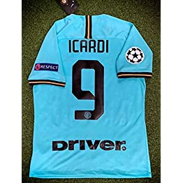 ICARDI#9 Inter Milan Away Soccer Jersey 2019-2020 Calcio Patch