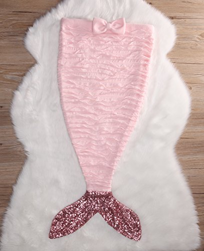 Baby Girls' Fish Aliven Sleeping Blanket Mermaid Costume Tail Pink Outfits Bag FdqBZ5wZn