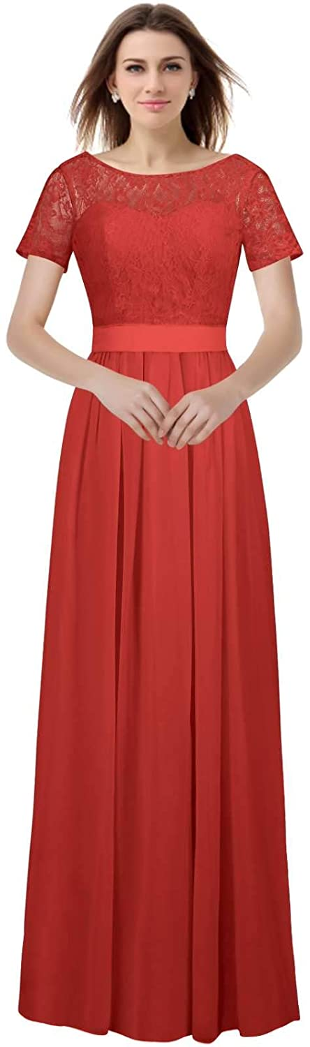 Red VaniaDress Women A Line Long Prom Evening Dress Bridesmaid Gowns V230LF