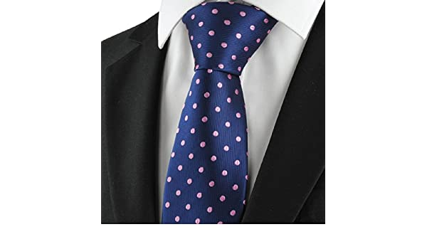 Azul marino de lunares, Purple Classic Men Tie Traje formal ...