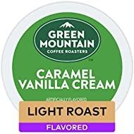 Green Mountain Coffee Roasters Caramel Vanilla Cream, Single-Serve Keurig K-Cup Pods, Flavored Light Roast Coffee, 72 Count