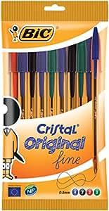 BiC Cristal Fine - Bolígrafo con trazo de 0,8 mm (10 unidades)