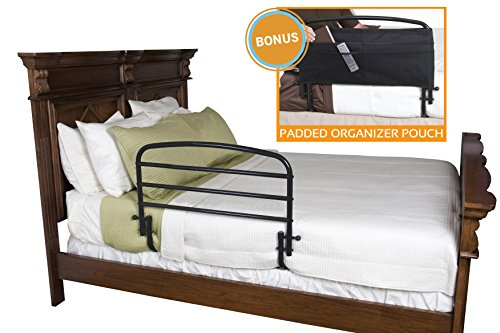 Stander 30'' Safety Adult Bed Rail & Padded Pouch- Home Elderly Bedside Safety Rail + Swing Down Assist Handle by Stander (Image #2)