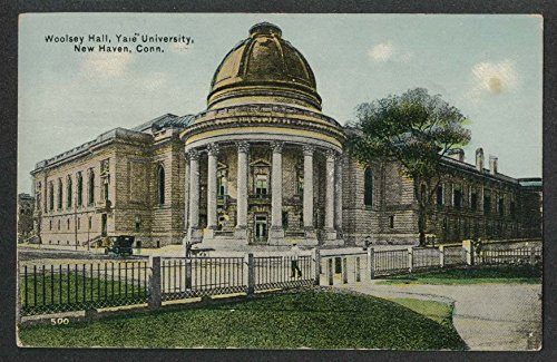 Woolsey Hall Yale University New Haven CT postcard 1913