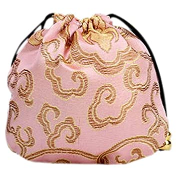 R 10x Gift Bag Set Jewelry Package Chinese Style Gift Bags Pink TOOGOO