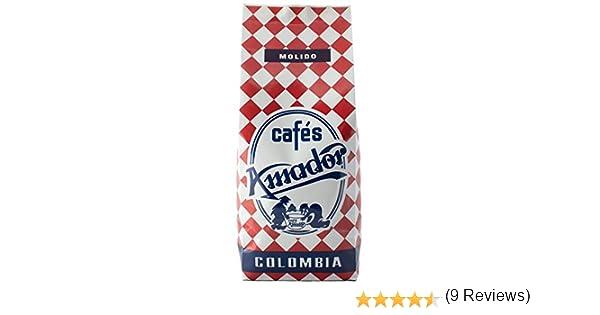 Cafes AMADOR - Cafe molido natural arabica 100% - Colombia - Café tostado de origen colombiano gourmet - 250gr (Molido fino para cafetera express ...