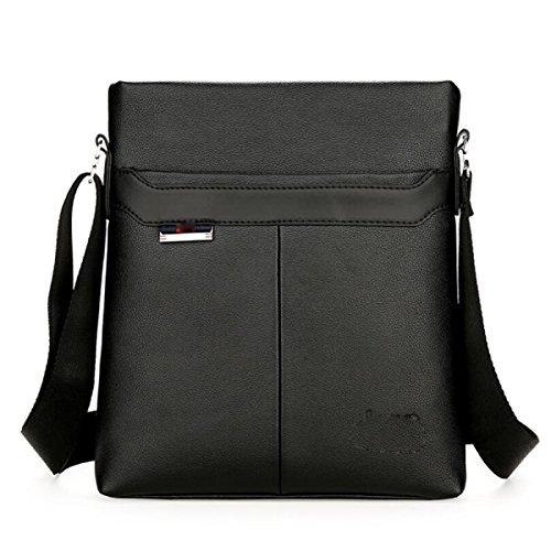 BUKUANG Hombres Hombro De Negocio Casual Paquete Diagonal Moda De Moda Simple Y Elegante,Black Black