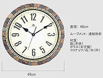 d5fbc2877f Amazon GREEM MARKET(グリームマーケット) 高級 おしゃれ モダン 大きい 特大 高級 北欧 壁掛け時計 おしゃれ 木製 時計 ヤシの 木 ココナッツ 壁掛け 掛け時計 ...
