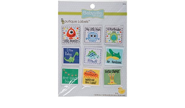 Little Bird and Hearts Design Dritz Babyville Boutique 9 Count Labels