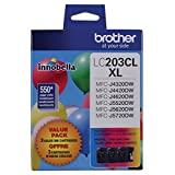 Brother Printer LC2033PKS Multi Pack Ink Cartridge, Cyan/Magenta/Yellow