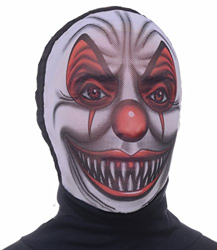 Forum Novelties Men's Scary Clown Hooded Mesh Mask, Multi, One Size