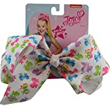JoJo Siwa Large Cheer Hair Bow (White w/ Colored Bows)