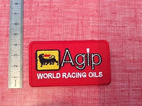 Parches para planchar aufnaher Toppa palabra Agip Racing aceites?: Amazon.es: Coche y moto