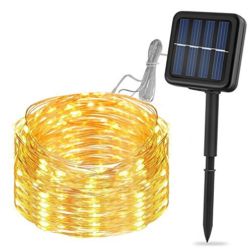 Solar String Lights, LDesign Decorative Lights 33ft Christmas Lights for Party, Patio, Lawn& Garden