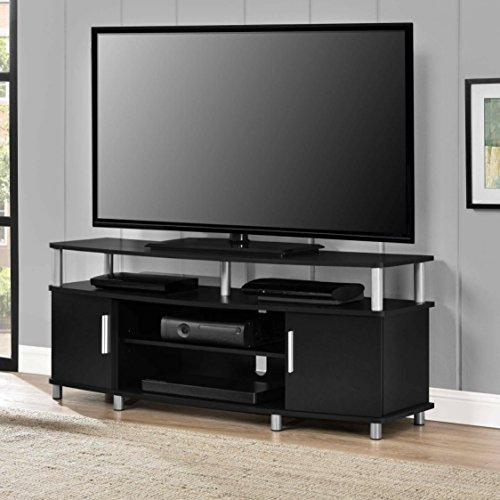 Adjustable Shelves Contemporary Style 50'' Black TV Stand by Ameriw00d Home