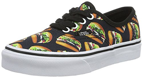 Authentic for Fashionable Black Designs Stylish and Prints Night Classic Canvas Late in Sneakers Unisex Vans Kids Hamburgers Colors dHtqd