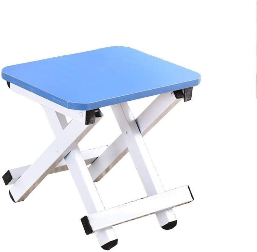 JPVGIA Taburete Plegable para escalones - Taburete Plegable para niños y Adultos, Taburete Plegable para peldaños del baño del huerto (Color : Blue)