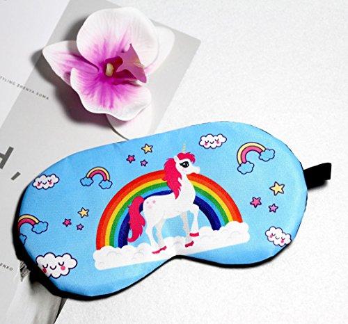 Fashion Unicorn 5Pcs Sleep Mask Cover Lightweight Blindfold Soft Eye Mask for Men Women Kids by Yosbabe (Image #4)