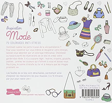 Comment Faire Un Coloriage Anti Stress.Inspiration Mode 70 Coloriages Anti Stress Amazon Fr