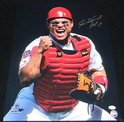 Autographed Ivan Rodriguez Photo - 16x20 W HOF 17 - JSA Certified - Autographed MLB Photos - Ivan Rodriguez Autographed Photo