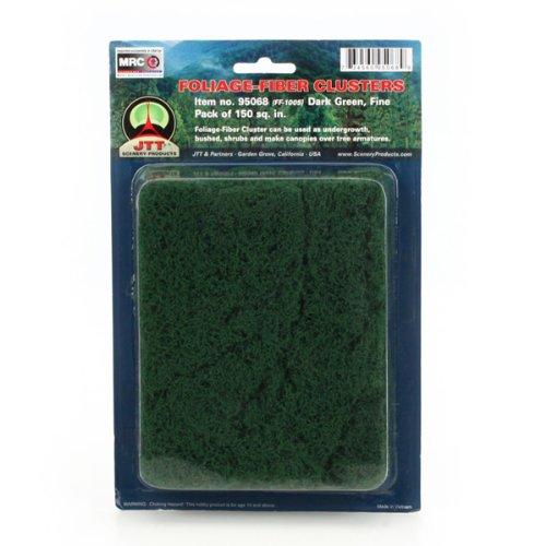 Foliage Fiber - JTT Scenery Products Foliage-Fiber Cluster: Dark Green, Fine