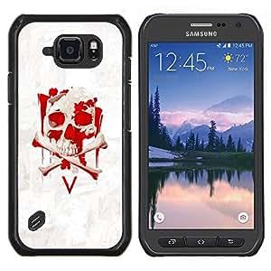 Qstar Arte & diseño plástico duro Fundas Cover Cubre Hard Case Cover para Samsung Galaxy S6Active Active G890A (V cráneo Vendetta)