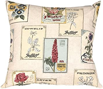 Amazon.com: Almohada Decor – Vintage semillas 20 x 20 Throw ...