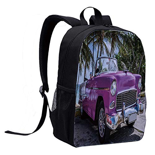 Eye-Catching And Impressive. Adjustable Padded Shoulder Straps for Easy,Durable And Comfortable Carrying, Smooth Double Zippers.Wide Application: Fashionable Style with Cute Printing, Suitable for School, Travel, Hiking, Camping And Other Outdoor Act...
