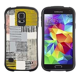 Suave TPU GEL Carcasa Funda Silicona Blando Estuche Caso de protección (para) Samsung Galaxy S5 / CECELL Phone case / / Abstract Mustard Yellow Lines Checkered /