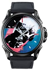 New York Rock Men's Watch with Black Band and Multicolor Dial