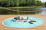 Round Tapestry mandala ,Circle Beach Tapestry Towel Wall hanging Hippie Boho Gypsy Cotton Tablecloth Beach Towel , Round Yoga Mat Towel